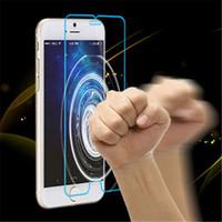 Alta calidad A + Premium para Iphone 6 6+ Plus 4.7 5.5 pulgadas Protector de pantalla de vidrio templado a prueba de explosiones