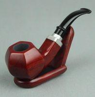 Vente en gros vente chaude Accessoires pour fumeurs Tubes de tabac incurvés en bois de santal rouge 9mm élément filtrant 669