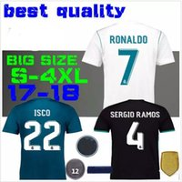 2018 The champions league black Real Madrid Soccer Jersey 17...