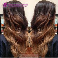 Ombre Lace Front Front Human Hair Perücken Brasilianisches Nicht-Remy Haar 13 * 4 Spitze-Perücken 1b / 4/2 27 Vorgepuckte Perücken mit Babyhaar