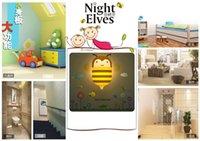 クリエイティブな壁紙エルフ管理ナイトライト10ピースAバッグ、LEDの省エネナイトライトセンサー、漫画シーンを試すナイトライト