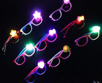 Led flash glasses frame children girl boy cartoon flashing lights glasses party bar event supplies decoration Christmas kids suprise gift
