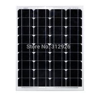 50w 17V Monocrystal Solar Panel Charge 12V Battery 50 watt s...