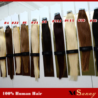 "XCSUNNY 18"" 20"" Peruvian Virgin Tape In Hair Extens..."