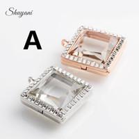Nova liga de zinco praça aromaterapia medalhão jóias acessórios diy hd vidro aberto open diamond memória medalhões para pulseiras e colares