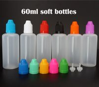 60ML البولي إثيلين المنخفض الكثافة عصير VAPE زجاجات فارغة من البلاستيك إبرة بالقطارة زجاجات شفافة مع قبعات Childproof ل E السوائل النفط
