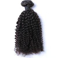 Cheveux brésiliens cambodgien malaisien mongol indien péruvien crépus bouclés cheveux vierges grande qualité cheveux armure livraison gratuite faisceaux 1 pièce