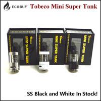 100% Original Tobeco Mini Super Tank Atomzier SS Svart Vit Byte BVC Coils SuperTank VS INANO TFV8 MICRO-TFV4 Arctic V8 Baby Protank