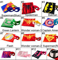 Superhero Cape & Mask Double Side batman superman cape mask ...