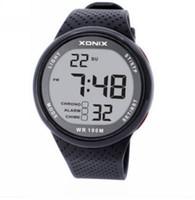 Xonix Men Sports Watch Digital WR100M PLAP Watch Светодиодный свет Наружный наручные часы Дайвера Многофункциональный Chrono Alarm