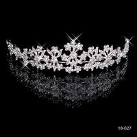 2015 joyería de menos de 5 Prom Party elegante de la boda diamantes de imitación Nueva barato tiaras coronas de 18 quilates de novia accesorios de la imagen verdadera de envío gratuito 18027