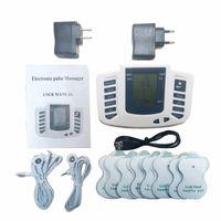 العلاج مدلك 16 منصات الكهربائية تحفيز كامل الجسم الاسترخاء العضلات العلاج مدلك شاشة lcd نبض عشرات الوخز بالإبر