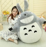 75CM Famous Cartoon Totoro Plush Toys Smiling Soft Stuffed T...