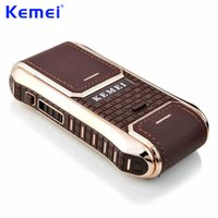 KEMEI Mini Portable Rechargeable Electric Shaver for Men Fac...