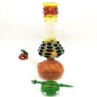 Heiße Verkäufe Neue Wasserpfeife Bong Ölplattform Pilz Glas Wasser Bongs Bunte 13,4 '' Tupfen Rig Bong berauschende Hand Rohr mit 4 Zubehör