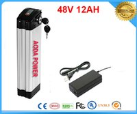 hohe Qualität Lithium-Batterie 48V 12AH elektrische Fahrrad Li Ionen Akku mit BMS, Ladegerät