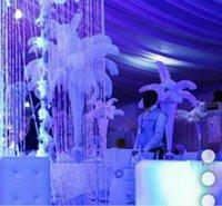 아름다운 흰색 타조 깃털 테이블 중앙 장식 웨딩 장식