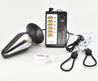 E- ستيم الكهربائية صدمة نبض XL طوربيد شرجي التوصيل الحلمة المشبك كليب العلاج اللعب