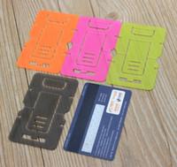 مرحبا الجودة البلاستيك المحمولة طوي بطاقة الهاتف يتصاعد الهاتف اللوحي حامل حامل ل فون الجدول الكمبيوتر / بكرة اللفاف 100 قطعة / الوحدة