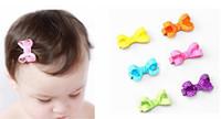 """100pcs 2"""" Point d'onde dot cheveux clip Bow bébé mini-hairbows Ruban bowknot Boutique Grosgrain avec pince crocodile couvre-chef Accessoires HD3346"""
