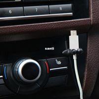 새로운 도착 8 PC / lot 다기능 접착제 자동차 충전기 라인 걸쇠 클램프 헤드폰 USB 케이블 자동차 클립 인테리어 액세서리