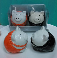 Cadeaux de mariage pour invité Pig Mariée et le marié Salière Poivrière pour les souvenirs de mariage (2PCS pour 1SET)