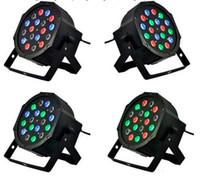 Edison2011 12pcs / cart Par Light 18 * 1W 9 canales DMX-512 LED PAR64 RGB Led con luz de escenario profesional para fiesta en casa KTV Disco Factory