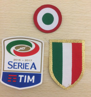 16- 17 Serie A Patch Italia Calcio Red Coppa and Chest Scudet...