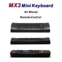 X8 الهواء يطير ماوس MX3 2.4 جيجا هرتز لوحة المفاتيح اللاسلكية التحكم عن بعد الحساسية ir تعلم 6 محور بدون مايكروفون لالروبوت التلفزيون مربع الذكية