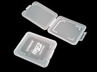 새 휴대용 SD 카드 투명 표준 메모리 카드 홀더 박스 카드 케이스 SD SDHC 메모리 카드 용 보관 케이스