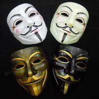 V маска для вендетты маска с подводка для глаз ноздри анонимный парень фокс необычный костюм для взрослых хэллоуин маска бесплатная доставка белый желтый черное золото