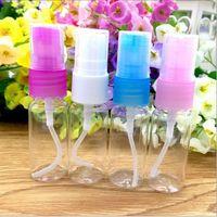 Bouteille de jet transparente en plastique colorée par 10ml mini bouteille de jet vide en plastique pour le maquillage et la bouteille rechargeable de soins de la peau