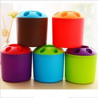 Candy- colored pen holder desktop pen holder seven hole stora...