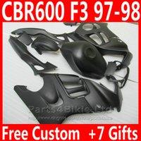 Honda CBR 600 F3 CBR600F3 1997 1998 고품질 페어링 부품 CBR600 F3 95 96 DKA6을위한 새로운 무광택 검은 오토바이 페어링 키트