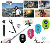 3 em 1 kit conjunto de telefone do obturador remoto do bluetooth clipe câmera mobil telefone selfie vara monopé para ios samsung android com caixa de varejo