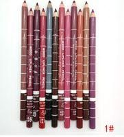 2016 Nueva venta superior Lipliner 24 colores de lápices labiales impermeable Contorno de labios lápiz delineador de maquillaje cosmético Herramientas