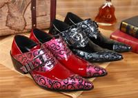 Negócio de Couro de Patente vermelho Sapatos Masculinos Crânio Escultura Fivela Couro Genunie Oxfords Italiano Masculino Sapatos de Casamento de Alta Qualidade Frete Grátis