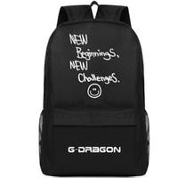 بدايات جديدة تحديات ظهره G حزمة يوم التنين Bigbang حقيبة مدرسية الموسيقى packsack جودة حقيبة الظهر الرياضة المدرسية daypack في الهواء الطلق