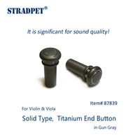 Wholesale- STRADPET titanium end button, Solid type for viol...