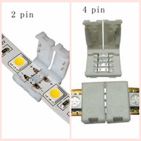 8mm 3528 10mm 5050 SMD 및 4PIN DC RGB 5050 LED 스트립 라이트 용 LED 스트립 커넥터 없음 용접 없음 빠른 LED 무료 배송
