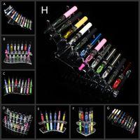 Populäres Acryl-e-Ziganzeige-freier Standregalhalter-Basis vape-Gestellkasten für Verdampferego tk-c-Batterie ecig e-Zigarette Zerstäuberbehälter DHL