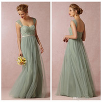 Cheap Sage Convertible Dress Bridesmaid Dress Tulle Removabl...