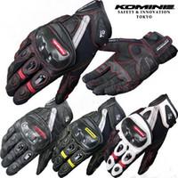 Autêntico 2015 KOMINE GK-160 verão luvas de corrida de moto de moto luvas de equitação DROP telefone toque