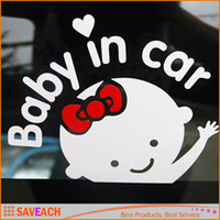 Free shipping Cool Baby in car Car Sticker Waterproof Reflec...