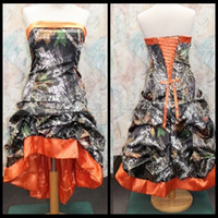 2020 Camo Prom Dresses Strapless High Low Prom Gowns Sleeveless Strapless Evening Dress For Women Plus Size