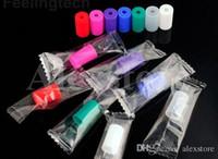 Силиконовые мундштук крышка кремния капельного наконечника одноразовые красочные резиновые тест советы крышка индивидуально пакет для CE4 Clearomizer атомайзер Ecig