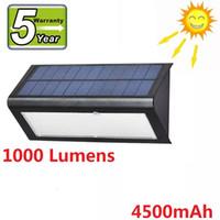 Mikrodalga Radar Hareket Sensörü Güneş Işık 48 LED Süper Parlak 1000lm 4 Modu Açık Bahçe Duvar Lambası