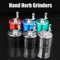 55mm 4 Layers Zinc Alloy Hand Crank Mill Crusher Herb Grinde...