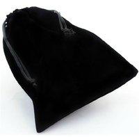 La borsa calda del sacchetto del velluto del cordone di coercizione del nero all'ingrosso di vendita per i gioielli due dimensioni è disponibile