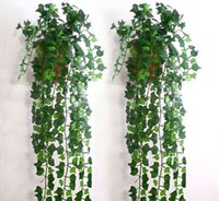 Artificial Ivy Leaf Garland Plants Vine Fake Foliage Flowers...